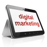 Advertising concept: Digital Marketing on tablet pc computer Stock Photos
