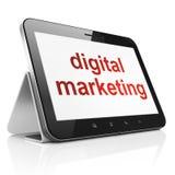 Advertising concept: Digital Marketing on tablet pc computer. Advertising concept: black tablet pc computer with text Digital Marketing on display. Portable Stock Photos