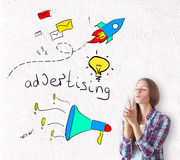 Advertising concept Royalty Free Stock Photo