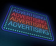 Advertising concept. Stock Images