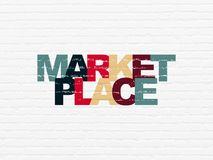 Free Advertising Concept: Marketplace On Wall Background Stock Photo - 105185760