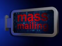 Advertising concept: Mass Mailing on billboard background. Advertising concept: Mass Mailing on advertising billboard background, 3D rendering vector illustration