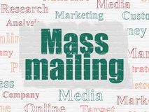 Advertising concept: Mass Mailing on wall background royalty free illustration