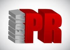 Advertising concept. media PR. Illustration design over white Stock Image