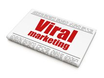 Advertising concept: newspaper headline Viral Marketing. On White background, 3D rendering Royalty Free Stock Photo