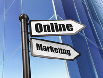 Advertising concept: Online Marketing on Building background Stock Photography