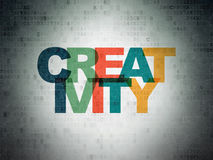 Advertising concept: Creativity on Digital Data Paper background Royalty Free Stock Image