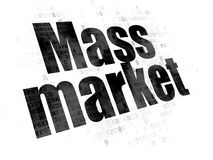 Advertising concept: Mass Market on Digital background. Advertising concept: Pixelated black text Mass Market on Digital background royalty free illustration