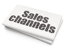 Advertising concept: Sales Channels on Blank Newspaper background Royalty Free Stock Photography