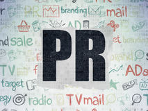 Advertising concept: PR on Digital Paper Royalty Free Stock Photo
