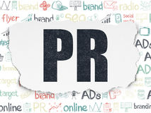 Advertising concept: PR on Torn Paper background Royalty Free Stock Photography