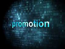Advertising concept: Promotion on digital background Stock Images