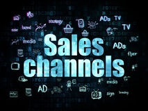 Advertising concept: Sales Channels on Digital Stock Images