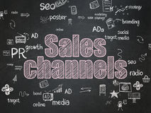 Advertising concept: Sales Channels on School Stock Photo