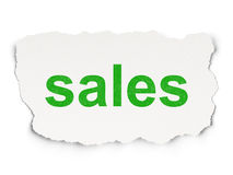 Advertising concept: Sales on Paper background Royalty Free Stock Image