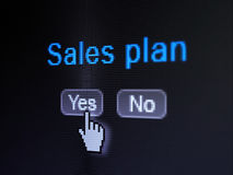 Advertising concept: Sales Plan on digital Stock Photography