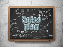 Advertising concept: Sales Plan on School Board Royalty Free Stock Photography