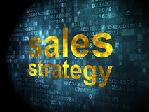 Advertising concept: Sales Strategy on digital background Stock Images