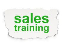 Advertising concept: Sales Training on Paper background Royalty Free Stock Photos