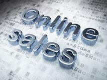 Advertising concept: Silver Online Sales on digital background Royalty Free Stock Images