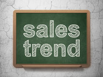 Advertising concept: Sales Trend on chalkboard background Royalty Free Stock Images