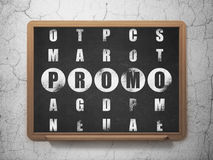 Advertising concept: word Promo in solving Royalty Free Stock Image