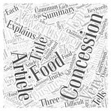 Advertising in Concessions word cloud concept vector background. Text Stock Illustration