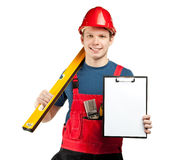 Advertising of construction services Stock Image