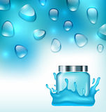 Advertising Cosmetic Ads, Hydrating Facial Cream Stock Photos