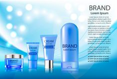 Advertising cosmetics cream sparkling background Stock Photo