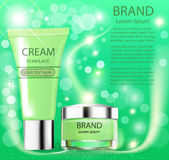Advertising cosmetics cream sparkling background Stock Images