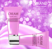 Advertising cosmetics cream sparkling background an Stock Photo