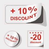 Advertising coupon. Set vector illustration Royalty Free Stock Photo