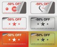 Advertising coupon. Set  illustration Royalty Free Stock Photography