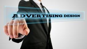 Advertising design Royalty Free Stock Photo