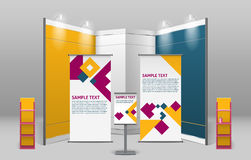 Advertising Exhibition Stand Design Royalty Free Stock Image
