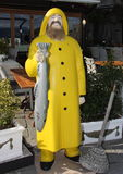 Advertising figure for restaurants : The fisherman. Stock Images