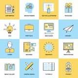 Advertising Flat Line Icons Royalty Free Stock Photo