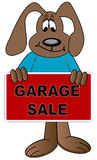Advertising garage sale Stock Image