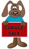 Advertising garage sale Stock Image