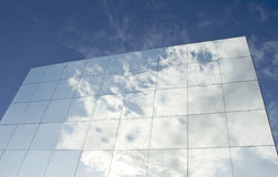 Advertising glass panels Stock Photo
