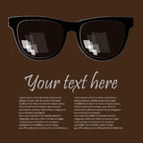 Advertising glasses background. Advertising glasses brown background with place for your options Stock Photo