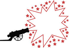 Advertising gun. A gun with an exploding star, in which you can place adverting, special offers etc. Available as Illustrator-file vector illustration
