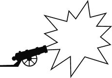 Advertising gun. A gun with an exploding star, in which you can place adverting, special offers etc. Available as Illustrator-file royalty free illustration