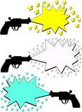 advertising guns Stock Photography
