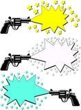 Advertising guns stock illustration