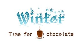Winter - the best time for a hot chocolate royalty free illustration