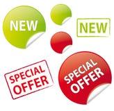 Advertising icon set Royalty Free Stock Photography