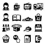 Advertising icon set Royalty Free Stock Photo