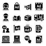 Advertising icon set Stock Photo
